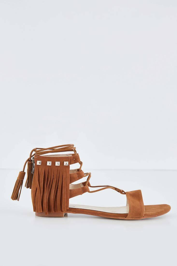 Kahverengi Püsküllü Sandalet