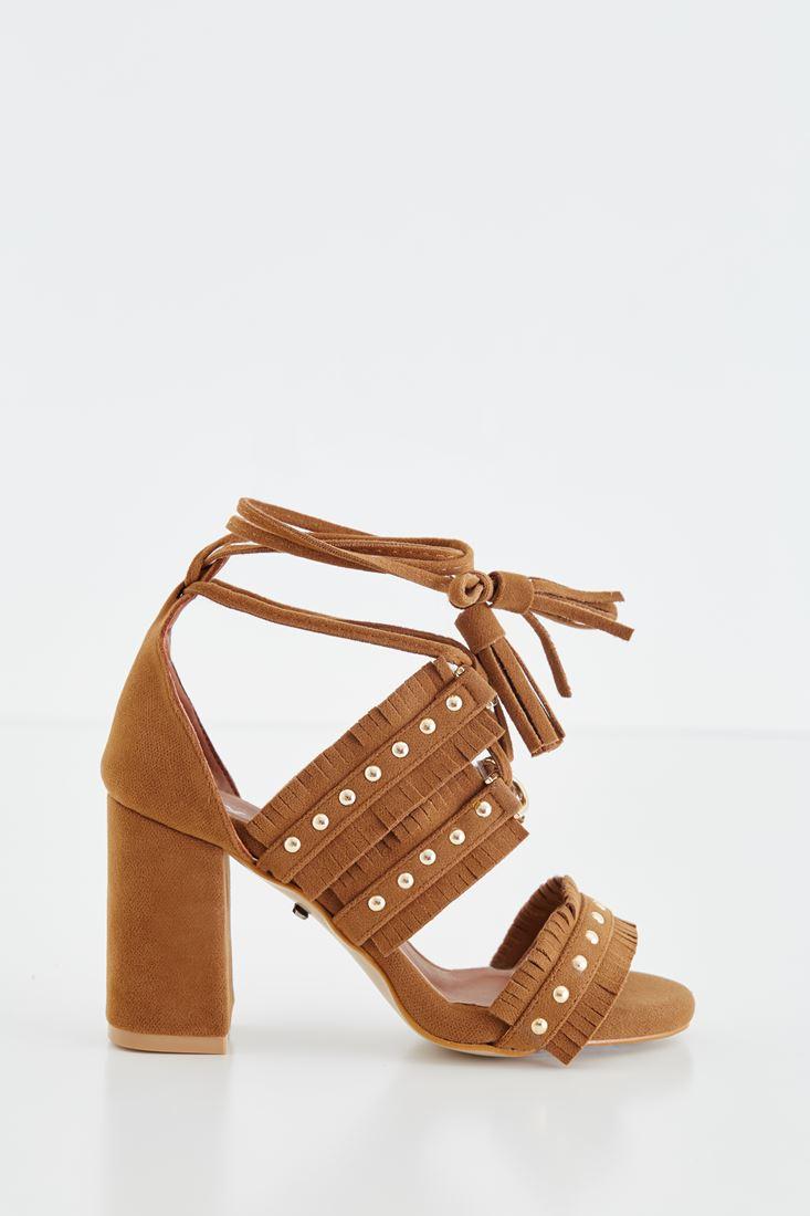 Zımbalı Topuklu Ayakkabı