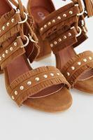 Bayan Kahverengi Zımbalı Topuklu Ayakkabı