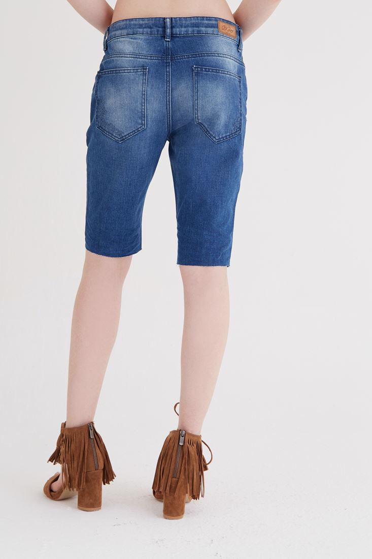 Bayan Mavi Uzun Şort