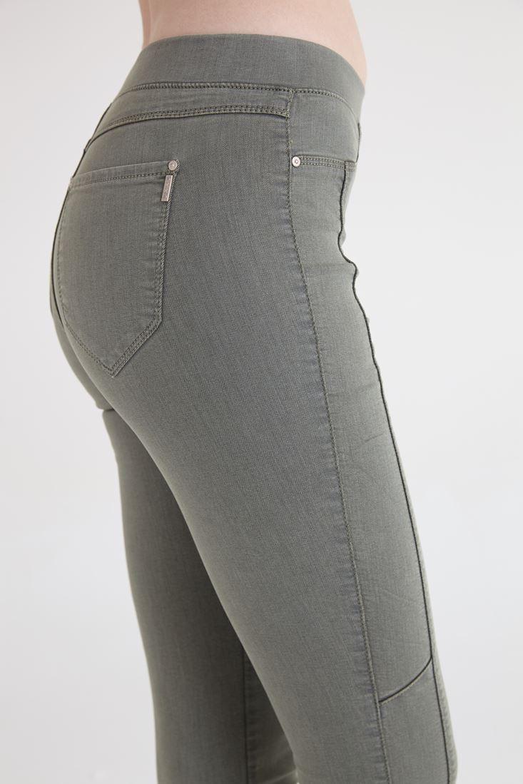 Bayan Yeşil Yüksek Bel Tayt Pantolon