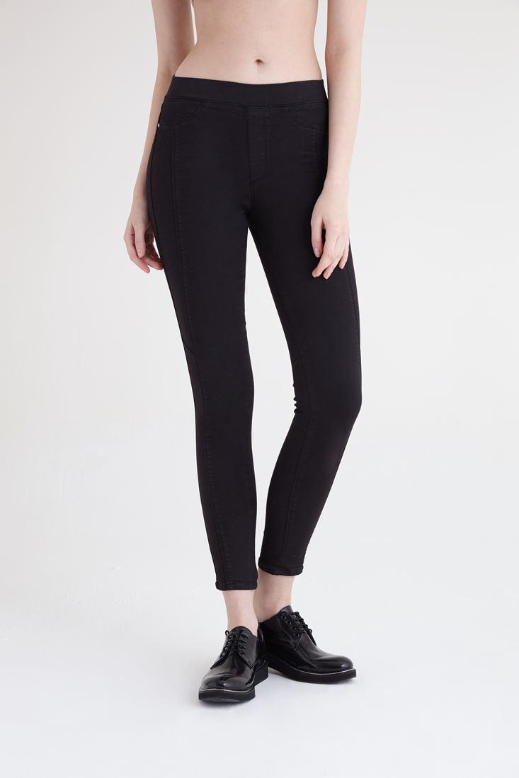Bayan Siyah Yüksek Bel Tayt Pantolon