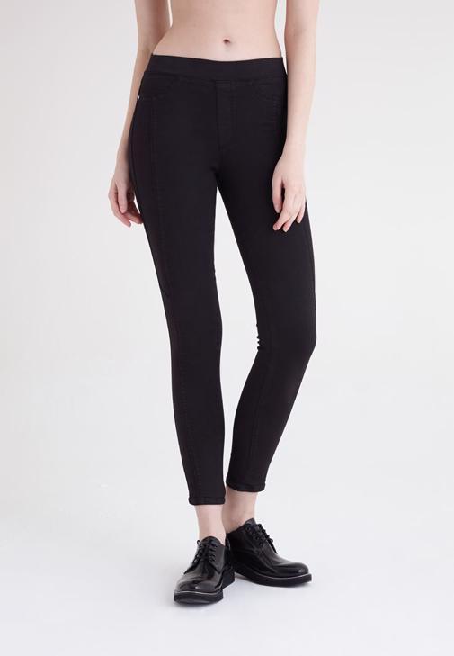 Siyah Yüksek Bel Tayt Pantolon