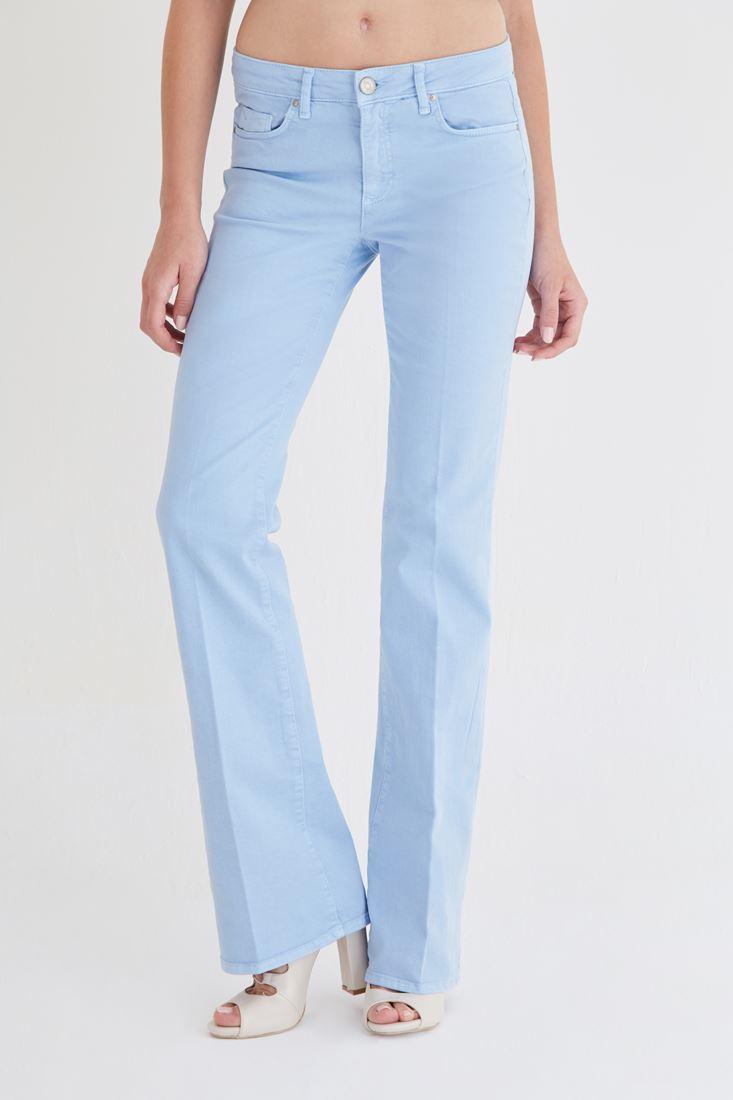 Bayan Mavi Bot Paça Pantolon
