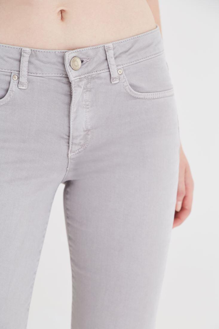 Bayan Gri Bot Paça Pantolon