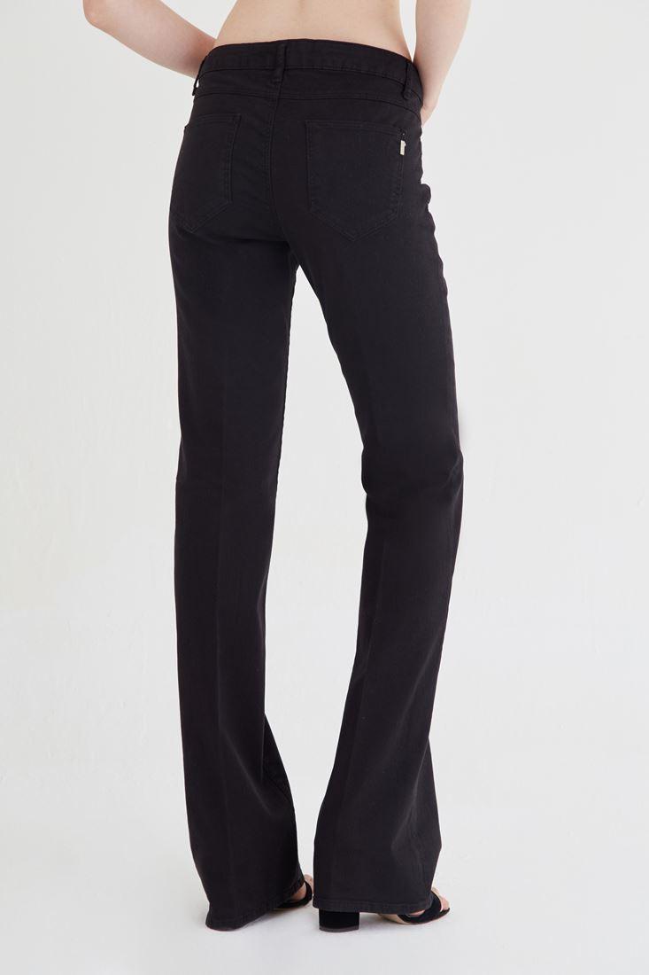 Bayan Siyah Bot Paça Pantolon