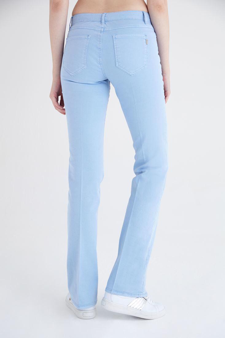 Bayan Mavi Düşük Bel Bot Paça Pantolon