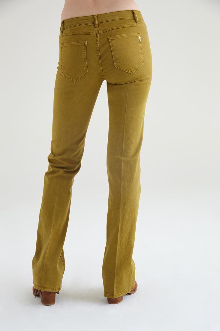 Bayan Yeşil Düşük Bel Bot Paça Pantolon