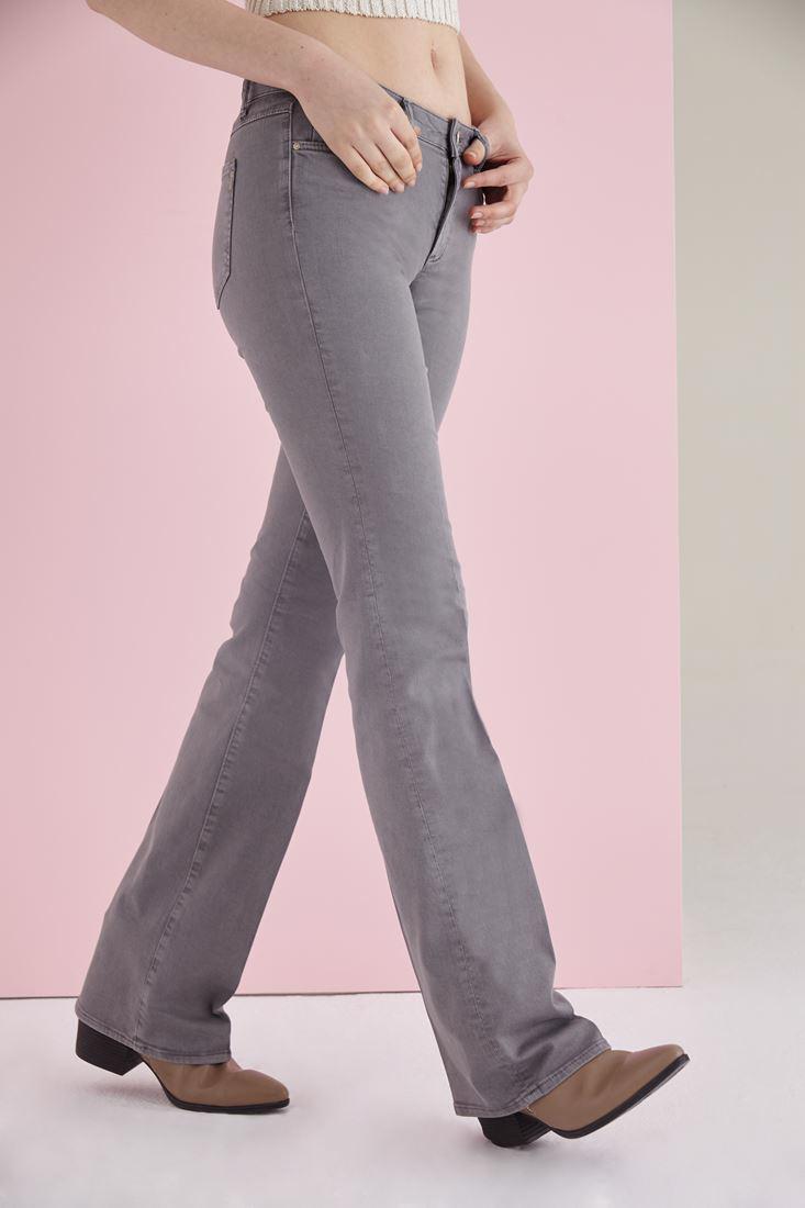 Women Grey Low Rise Bootcut Pants