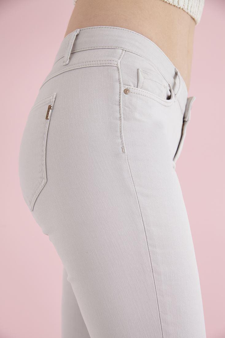 Bayan Gri İspanyol Paça Düşük Bel Pantolon