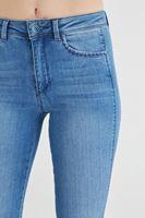Bayan Mavi İspanyol Paça Pantolon
