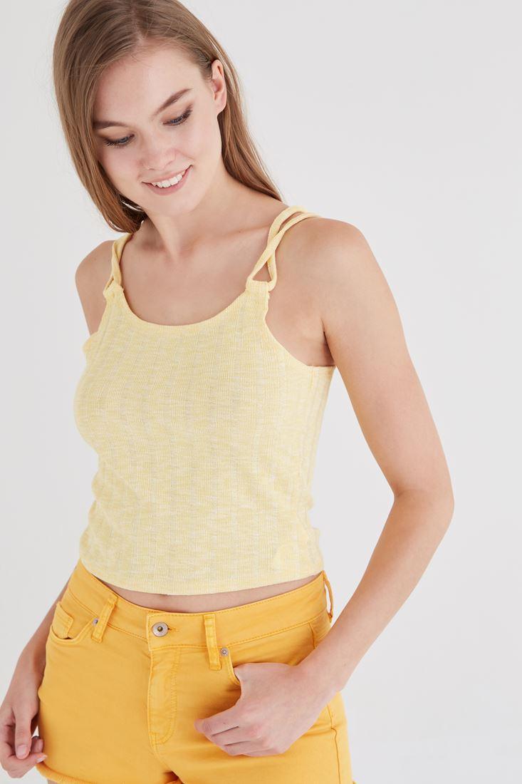 Bayan Sarı Biye Detaylı Atlet