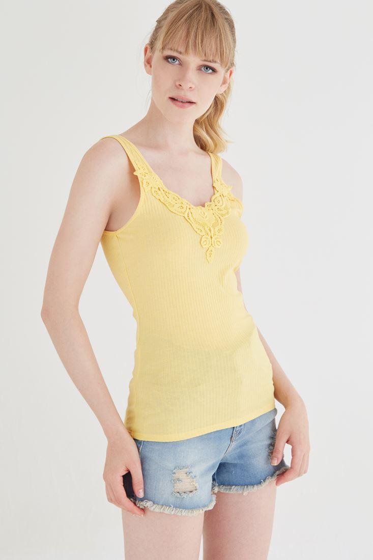 Bayan Sarı Dantelli Atlet