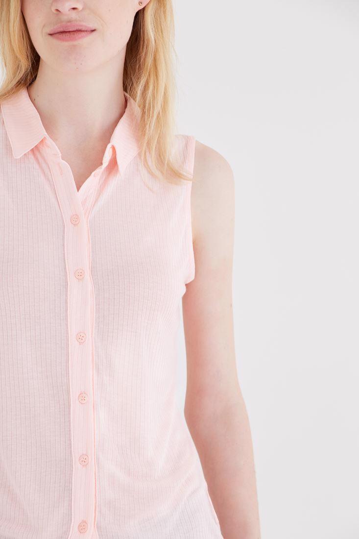 Bayan Pembe Kolsuz Gömlek