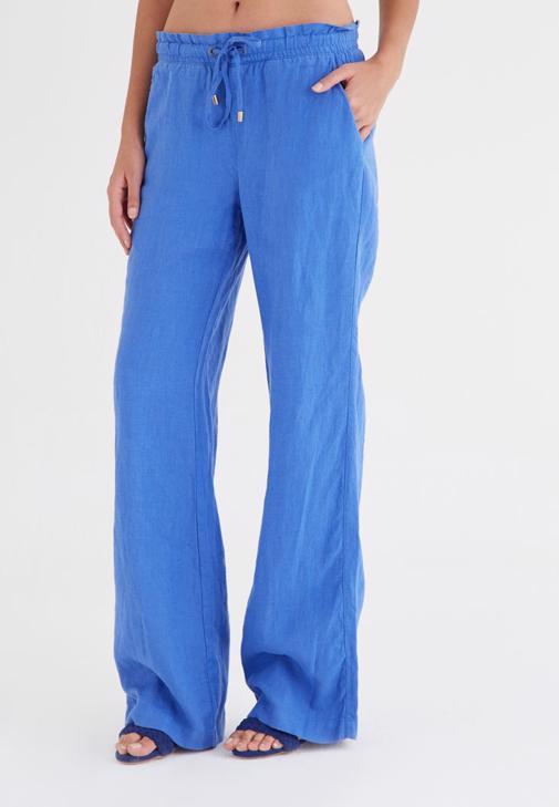 Mavi Keten Pantolon