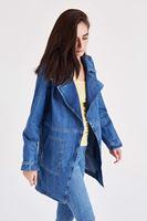 Bayan Mavi Denim Ceket