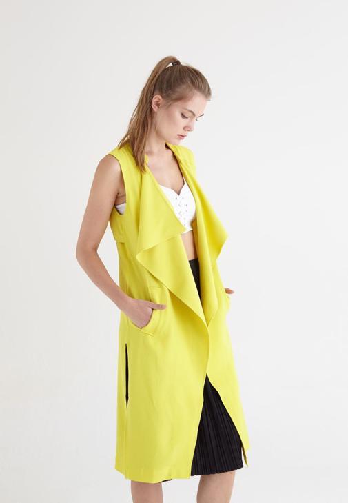 Sarı Uzun Yelek