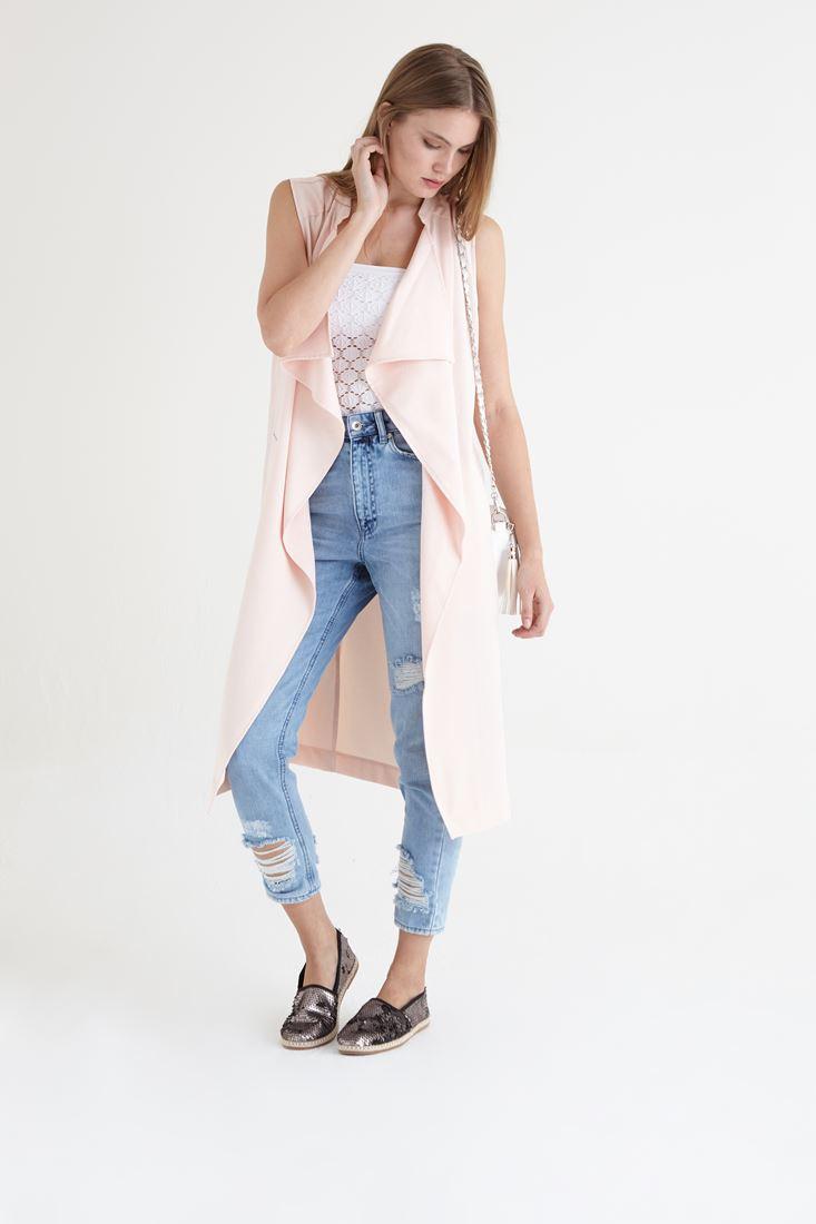 Pink Long Vest
