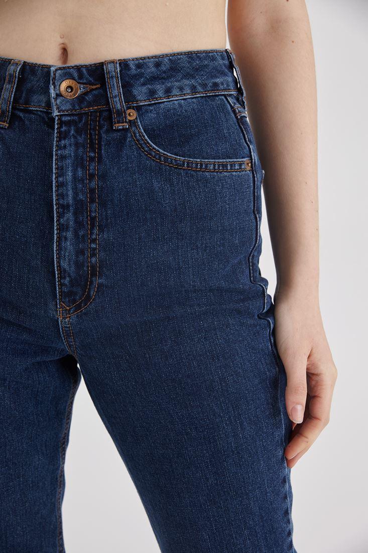 Bayan Mavi Yüksek Bel Jean