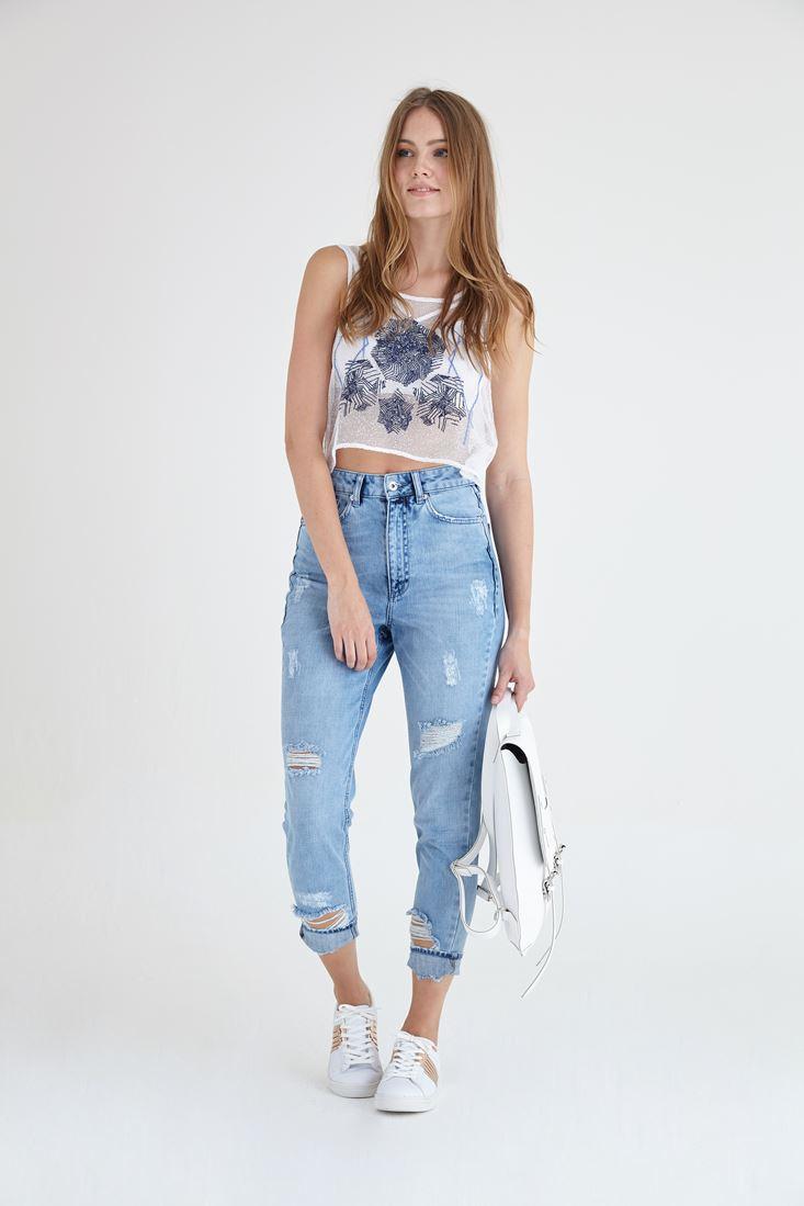 Yüksek Bel Jean