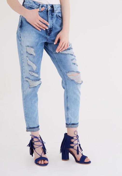 Mavi Yüksek Bel Jean