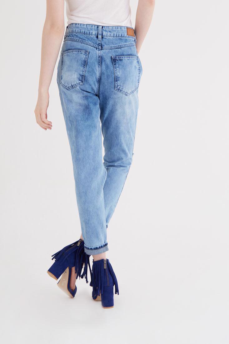 Women Blue High Waist Jean