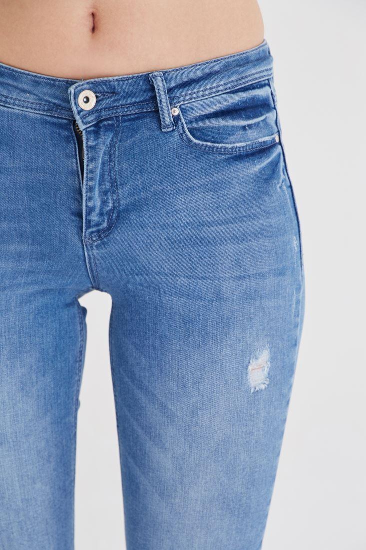 Bayan Mavi Kapri Pantolon