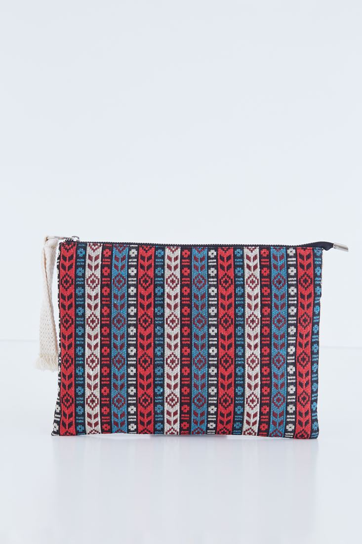 Mixed Ethnic Patterned Clutch
