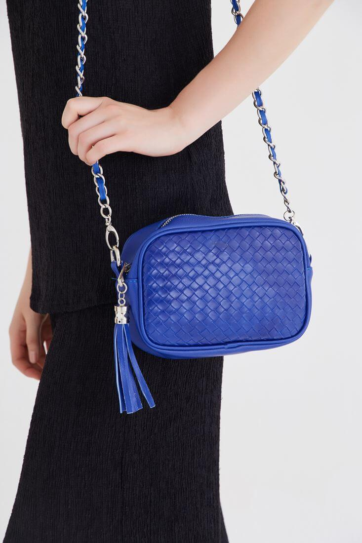 Blue Tassel Detailed Bag