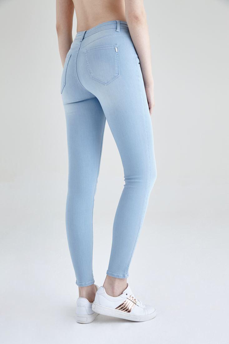 Bayan Mavi Normal Bel Skinny Pantolon