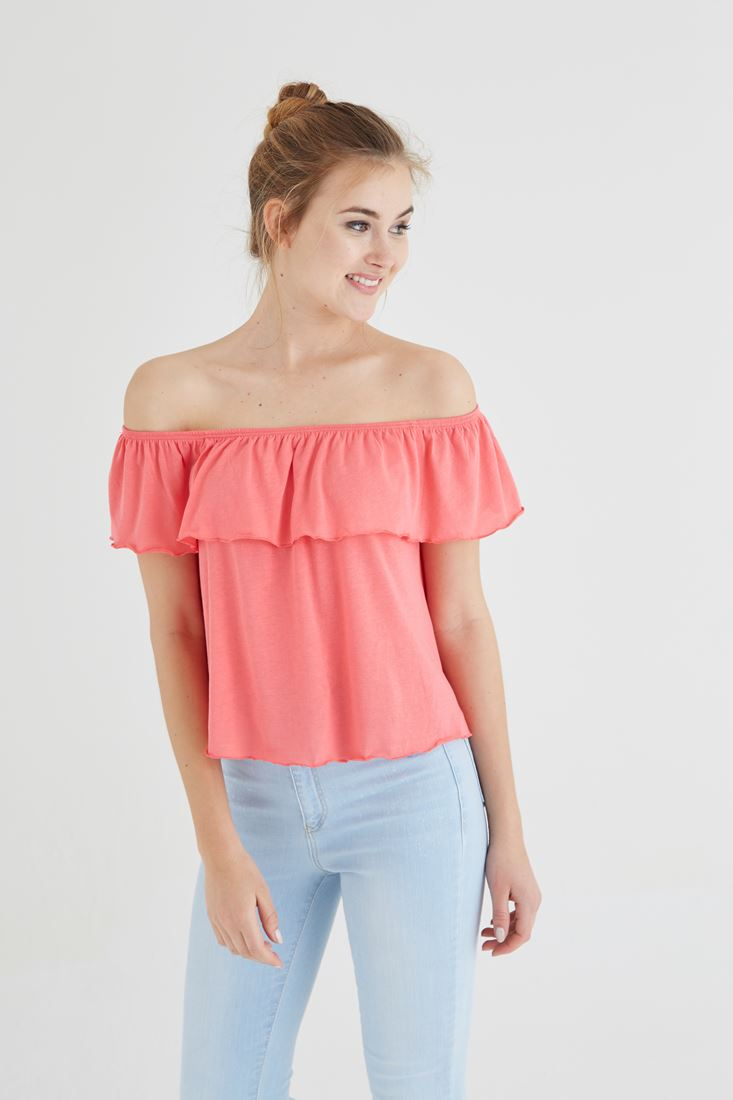 Pink Wide Collar Blouse