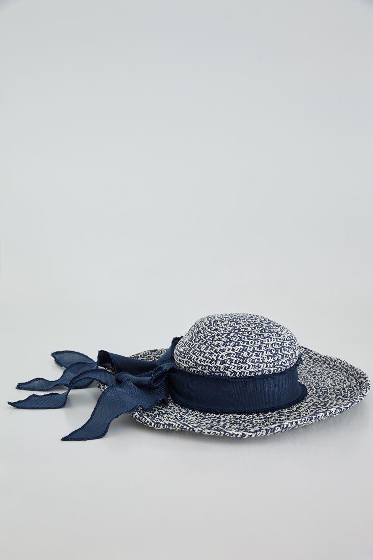 Bayan Lacivert Hasır Şapka
