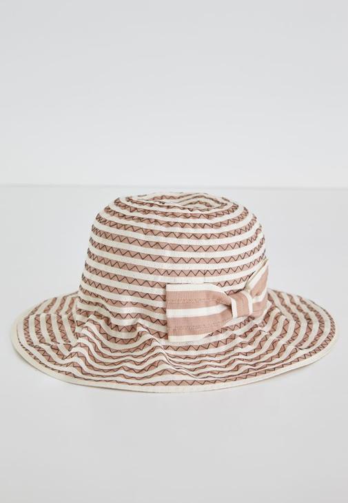 Kahverengi Çizgili Şapka