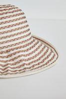 Bayan Kahverengi Çizgili Şapka