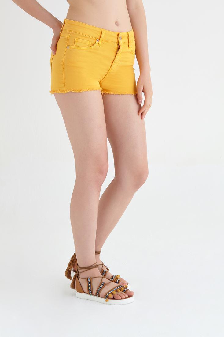 Bayan Sarı Kısa Şort