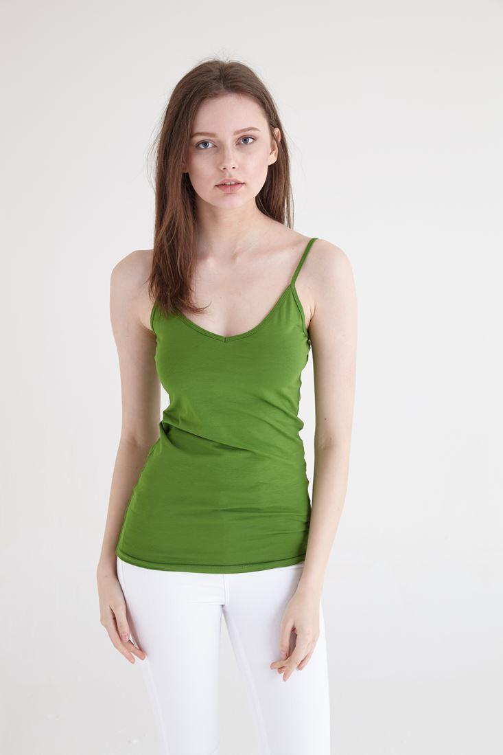 Bayan Yeşil İnce Askılı Atlet