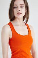 Bayan Turuncu Kare Yaka Basic Atlet