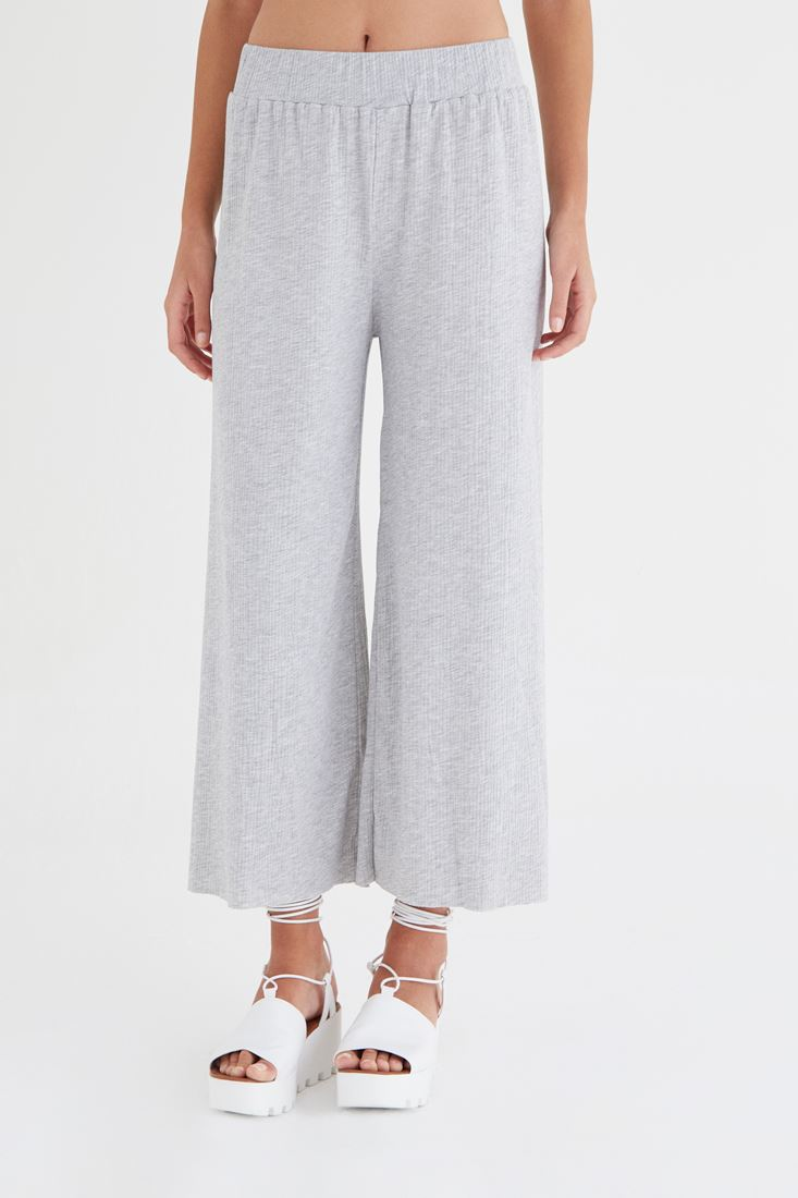 Bayan Gri Bol Pantolon