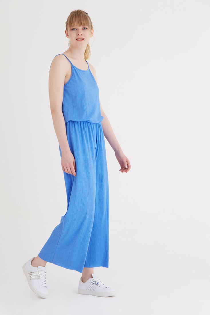 Bayan Mavi Askılı Tulum