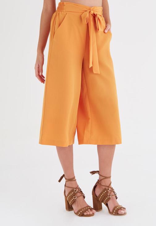 Turuncu Culotte Pantolon
