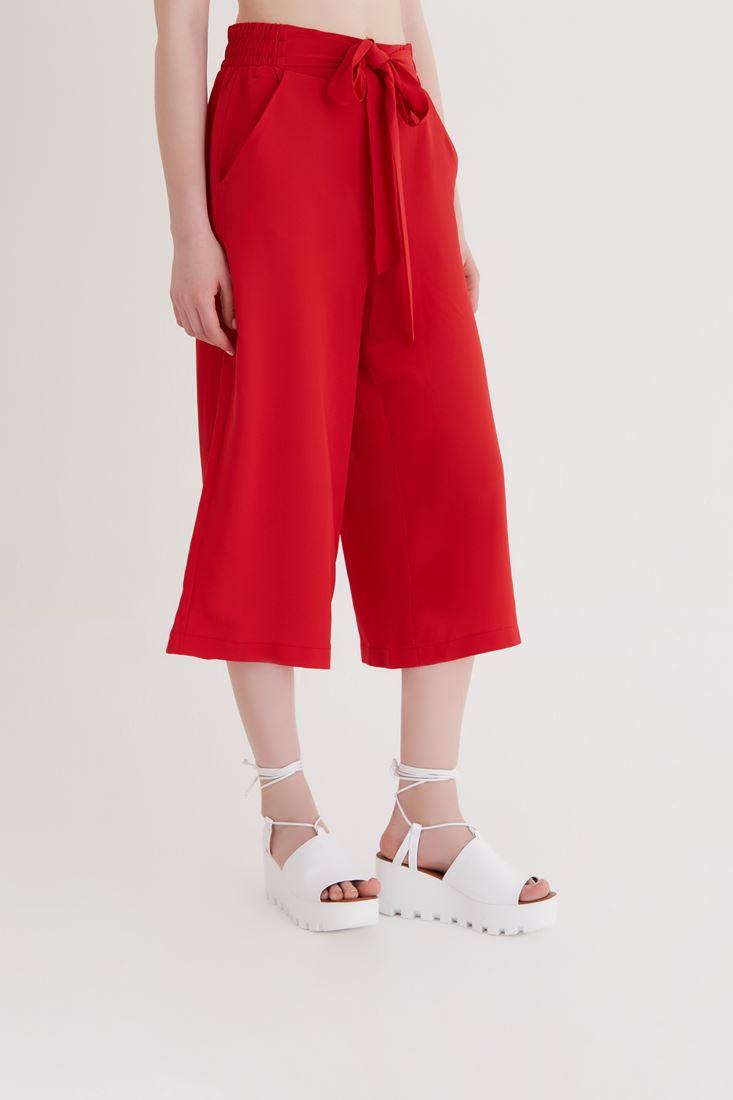 Bayan Kırmızı Culotte Pantolon