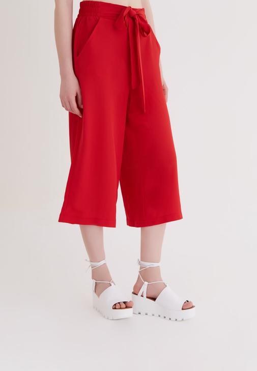 Kırmızı Culotte Pantolon