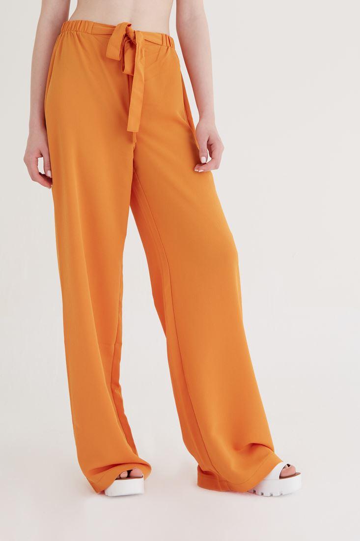 Bayan Turuncu Bol Kesim Pantolon