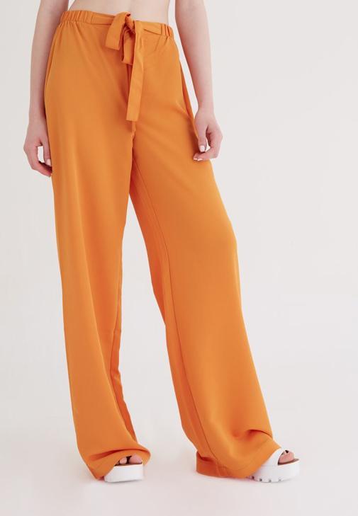 Turuncu Bol Kesim Pantolon