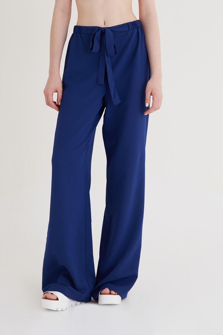 Bayan Lacivert Bol Kesim Pantolon