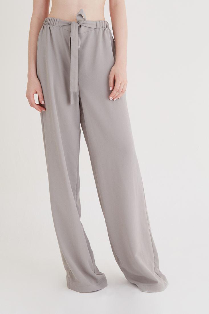 Bayan Gri Bol Kesim Pantolon