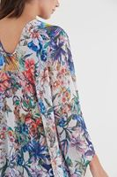 Bayan Çok Renkli Püsküllü Kimono