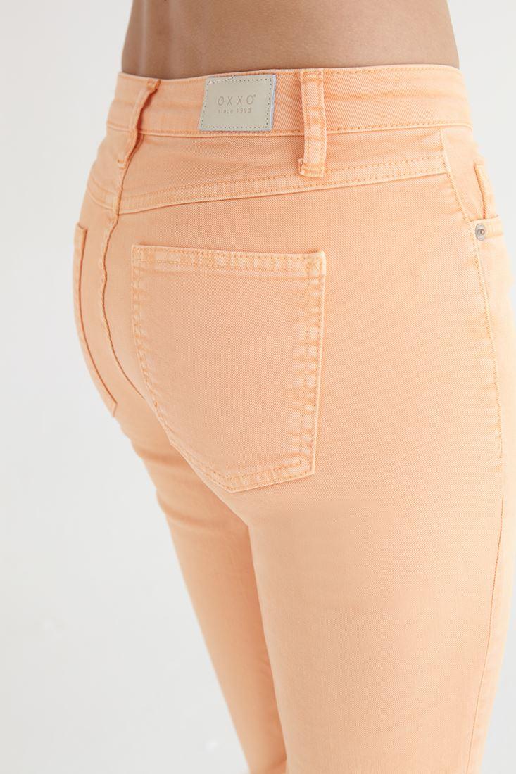 Bayan Turuncu Kısa Paça Ara Bel Pantolon