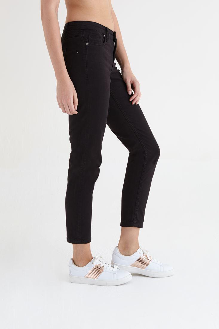 Bayan Siyah Kısa Paça Ara Bel Pantolon