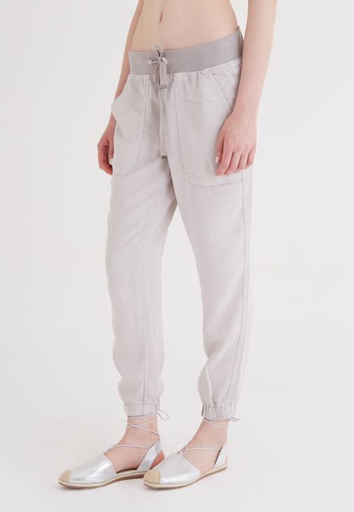 Gri Paçaları Lastikli Pantolon